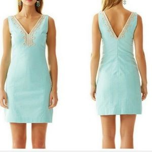 Lily Pulitzer mint and gold Bentley dress